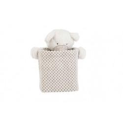 MAND BEAR WIT GREIGE 17X17XH20CM  Cosy @ Home