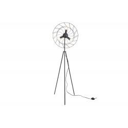 LAMP VENTILATOR ZWART 43X42XH144CM METAA  Cosy @ Home