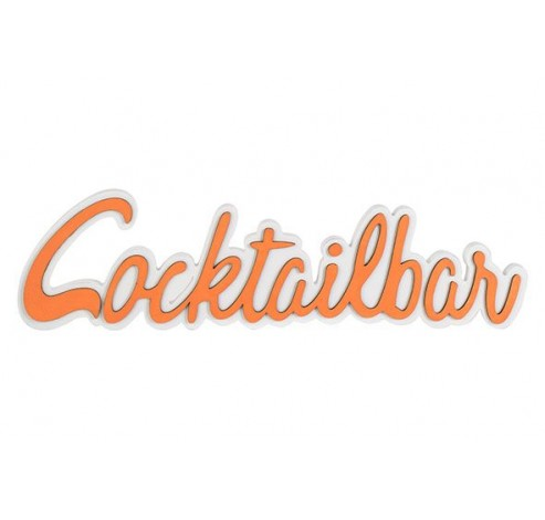 COCTAILPARTY ORANJE 48X2XH13CM HOUT  Cosy @ Home