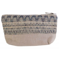 MAKE-UP BAG BLUE CREME 19X5XH13CM POLYES  Cosy @ Home
