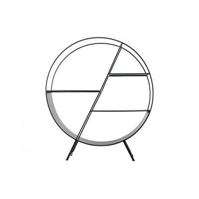 REK CIRCLE ZWART-WIT 70X18XH78,5CM METAA  Cosy @ Home