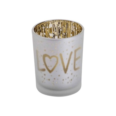 THEELICHTHOUDER LOVE GOLD WIT D5,5XH7CM  Cosy @ Home