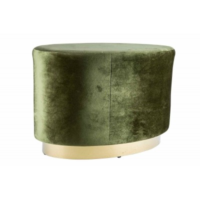 POEF VELOURS GROEN 60X35XH38CM HOUT  Cosy @ Home