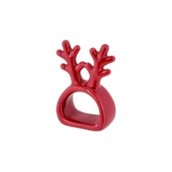 SERVETHOUDER ANTLERS ROOD 7,3X6XH7,2CM A