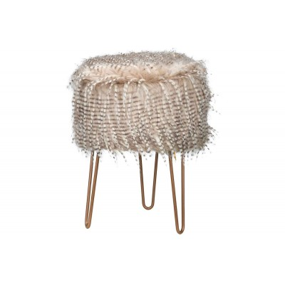 KRUK FEATHERS BEIGE 32X32XH42CM HOUT  Cosy @ Home