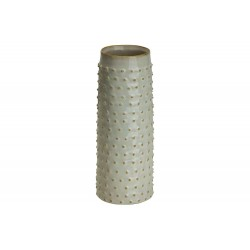 VAAS GLAZED EMBOSSED DOTS CREME 9,5X9,5X Cosy @ Home