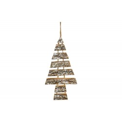 HANGER CHRISTMAS TREE SNOWY NATUUR 26X2X  Cosy @ Home
