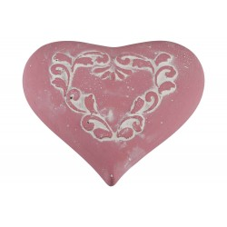 ORNAMENT DECORATED OUD ROZE 17,5X16XH5,5
