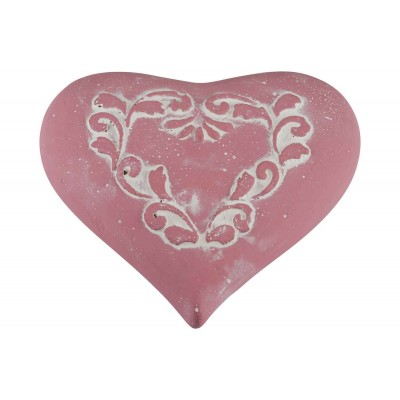 ORNAMENT DECORATED OUD ROZE 17,5X16XH5,5  Cosy @ Home