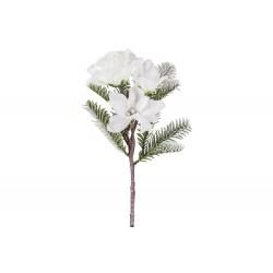 DECOTAK SNOWY FLOWERS GROEN 10X10XH38CM  Cosy @ Home