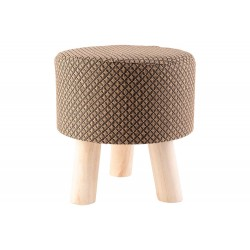 POEF BRUIN 28X28XH30CM HOUT  Cosy @ Home