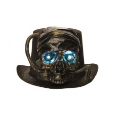 HOED SKULL LED EYES BRASS 28X27XH15CM TE  Cosy @ Home