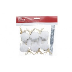 KNIJPER SET6 DEER WHITE FUR NATUUR 6X1XH  Cosy @ Home