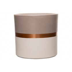 BLOEMPOT DUO WHITE-TAUPE COLOR COPPER LI  Cosy @ Home