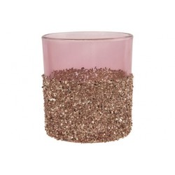 THEELICHTHOUDER CHAMPAIGN STONES ROZE 7X  Cosy @ Home