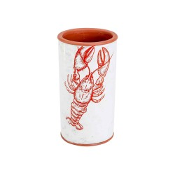 VAAS LOBSTER ROOD 11X11XH20CM CILINDRISC  Cosy @ Home