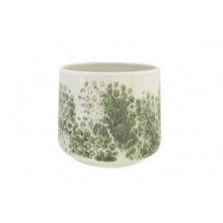 BLOEMPOT GREEN REACTIVE GLAZING  WIT 15X  Cosy @ Home