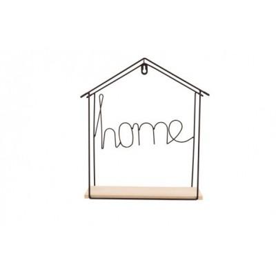 MUURDECO HOUSE WOOD BASE ZWART 29,5X9,5X  Cosy @ Home