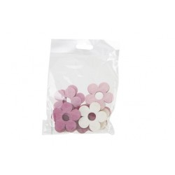 STROOIDECO SET12 ROZE 4XH4CM HOUT  Cosy @ Home
