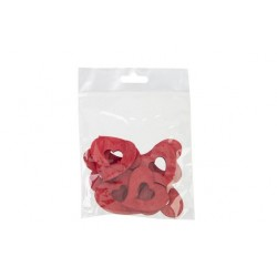 STROOIDECO SET12 HEARTS ROOD 4XH4CM HOUT  Cosy @ Home