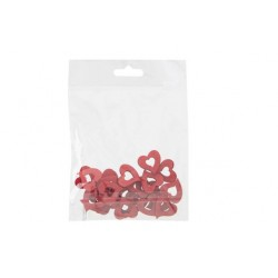 STROOIDECO SET24 HEARTS ROOD 2XH2CM HOUT  Cosy @ Home