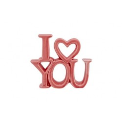 ORNAMENT I LOVE YOU MATT  ROZE 13,5X3XH1