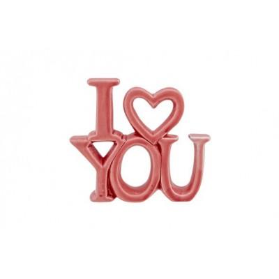 ORNAMENT I LOVE YOU MATT  ROZE 13,5X3XH1  Cosy @ Home