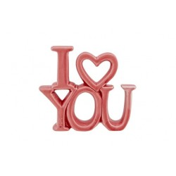 ORNAMENT I LOVE YOU MATT  ROZE 10,2X2,5X  Cosy @ Home