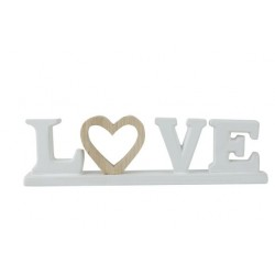 LETTERDECO LOVE WOODEN HEART WIT 30,3X4,  Cosy @ Home