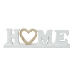 LETTERDECO HOME WOODEN HEART WIT 30,3X4,  Cosy @ Home