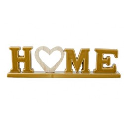 LETTERDECO HOME WOODEN HEART CAMEL 30,3X  Cosy @ Home