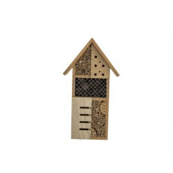 HUIS INSECTS NATUUR 24X10XH45CM HOUT