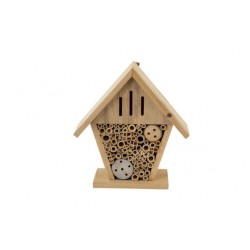 HUIS INSECTS NATUUR 18X8XH19CM HOUT