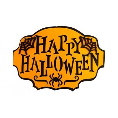 Happy Halloween Black Oranje 45xh30cm Vi