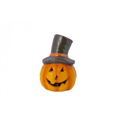 Pompoen Brown Hat Oranje 12x12xh17,3cm R