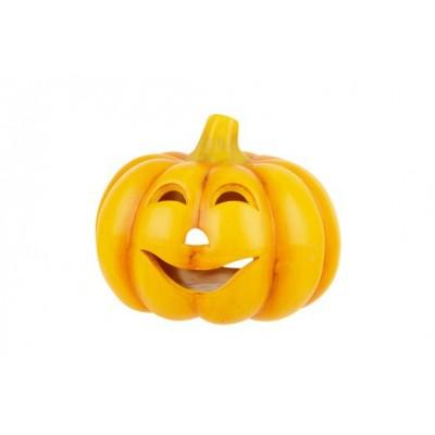 Pompoen Face Oranje 18,8x18,2xh14,6cm Ro