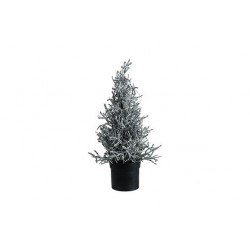 KERSTBOOM 15 LED LIGHTS GLITTER ZILVER 1