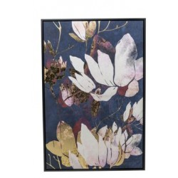 CANVAS PINK FLOWERS ZWART 60X4,5XH90CM  Cosy @ Home
