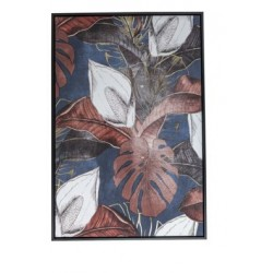 CANVAS COLOURED FLOWERS ZWART 60X4,5XH90  Cosy @ Home