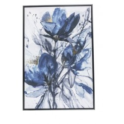 CANVAS BLUE FLOWERS 60X4,5XH90CM  Cosy @ Home