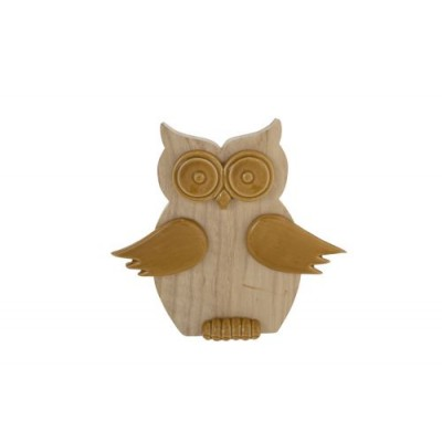 UIL WOOD CAMEL 15,5X3,1XH14,4CM ROND DOL  Cosy @ Home
