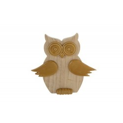 UIL WOOD CAMEL 19,8X3,5XH18,5CM ROND DOL  Cosy @ Home