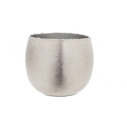 THEELICHTHOUDER BRUSHED ZILVER 16X16XH13  Cosy @ Home