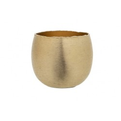 THEELICHTHOUDER BRUSHED GOUD 16X16XH13CM  Cosy @ Home