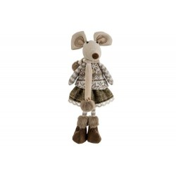 FIGUUR MOUSE BOY BRUIN 17X14XH42CM TEXTI  Cosy @ Home