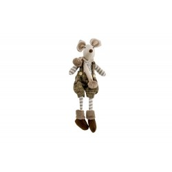 FIGUUR MOUSE BOY BRUIN 17X14XH50CM TEXTI  Cosy @ Home