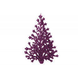 HANGER KERSTBOOM GLITTER FUCHSIA 2X10XH1  Cosy @ Home