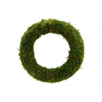 KRANS RATTAN-GRASS  GROEN 30X30XH7CM ROND  Cosy @ Home