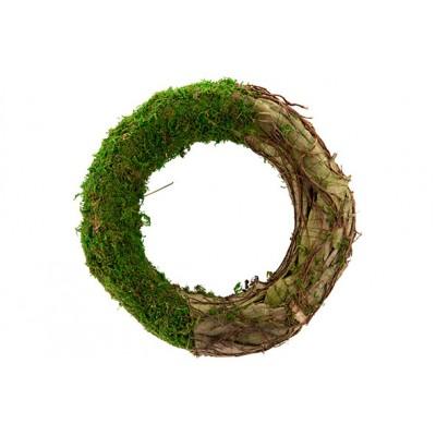 KRANS RATTAN-GRASS  NATUUR 30X30XH6,5CMROND  Cosy @ Home