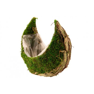 MAND MOON RATTAN-GRASS  NATUUR 31X18XH26CM ANDERE  Cosy @ Home